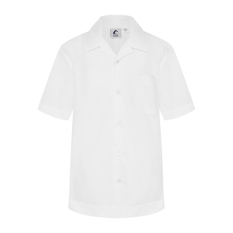 Short Sleeve Shirt with Open Neck Collar
