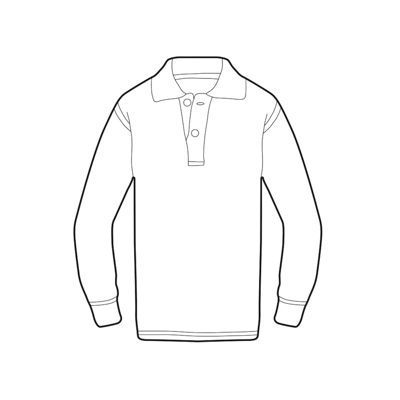 Long Set In Sleeve Plain Polo